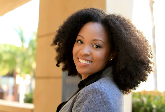 Professional African American Woman Smiling